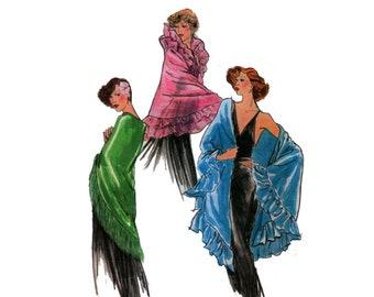 des années 70 non-coupe Vogue châle motif Wrap de soirée taille un motif Plus taille espagnol châle motif carolingienne costume Vogue 8867