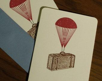 Fallschirm Koffer - 12-Pack Gocco Siebdruck Karten