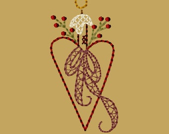 MACHINE EMBROIDERY-Heart Candleholder-4X4-CW-Instant Download