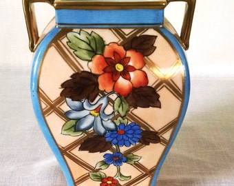 Vintage Hand-painted Noritake Vase