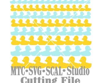 SVG Cut File Border Easter Lil Duckies SCAL MTC Cricut Silhouette Cutting File