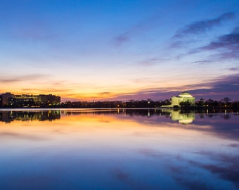 Tidal Basin Sunrise - Washington DC Photography - Jefferson Memorial Print - National Mall, Capitol, Landscape Photography