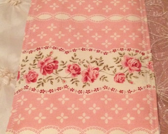 BEAUTIFUL SHABBY CHIC Baby Girl Burp Cloth Boutique Style 6-ply Super Girly Pink Floral Polka Dot Cute Summer Fun