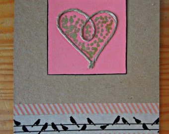 Valentine's Card - Heart & birds