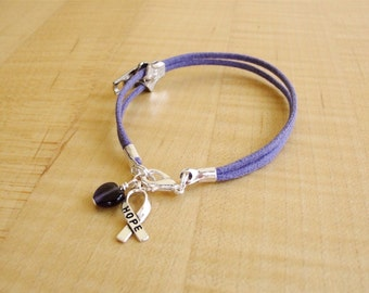 Chiari Awareness Bracelet with Zipper charm -  Arnold-Chiari Malformation