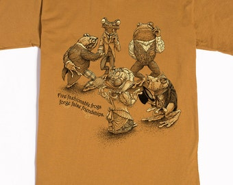 Frog Shirt - Animal Tshirt - Men's Shirt - Hipster Graphic Tee - American Apparel - Animal Art - Brother Gift - Unique Art