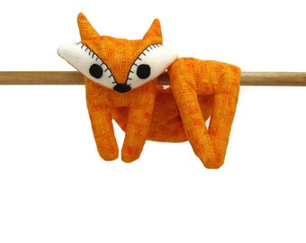 Flat Fox Neck Rice Heat Pad - Hot Cold Rice Bag - Microwave Neck Wrap - Rice Heating Pad - Hot Cold Therapy Pack - Orange & White Fox