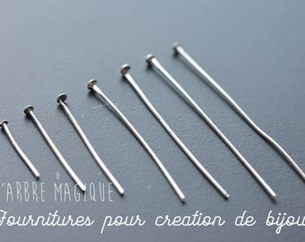 10G of stems silver studs of any size 2-5 cm, sold per 10 g