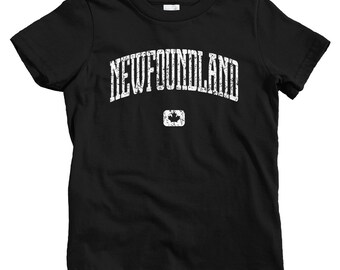 Kids Newfoundland Canada T-shirt - Baby, Toddler, and Youth Sizes - Newfoundland Kids Tee, Gift, Newfie Kids, St. John's, Labrador City, NL