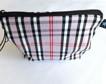 Makeup bag Pink Checkered