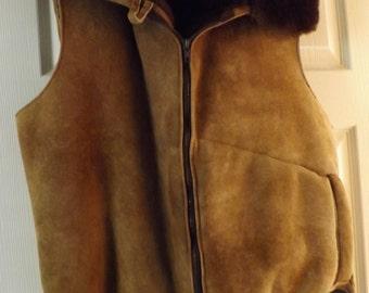 Genuine Shearling Men's Vest