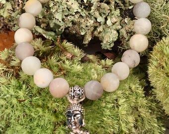Amazonite and silver bracelet