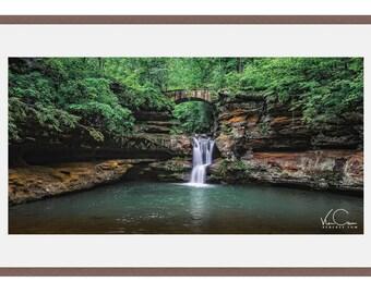 Hocking Hills, Waterfall Photo, Hocking Hills Print, Waterfall Fine Art, Panorama Print, Waterfall Panorama,