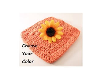 Square Washcloth, USA Grown Cotton, US Shipping Included, Made to Order, Custom