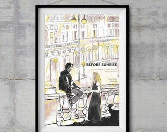 Before Sunrise Alternative Movie Poster - Original Illustration