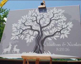 Wedding Tree Guest Book Wedding Guestbook Alternative Wedding Guestbook Signature Tree Guestbook Unique Guestbook Ideas Wedding Leaf Tree