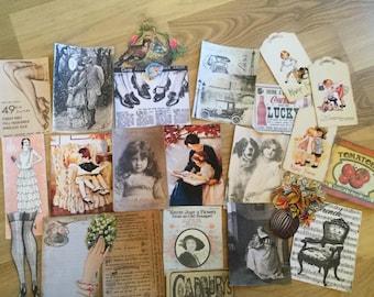 Vintage themed ephemera pack