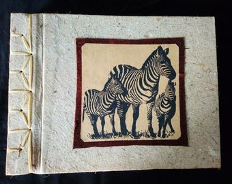 recycled paper, sketch book, journal, photo album, art book