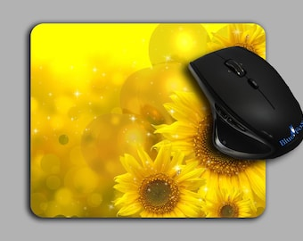 cute Mouse Pads Yellow Sunflower Floral pattern mousepad cloth top MP-102