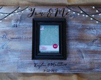 You & Me Wooden Guestbook