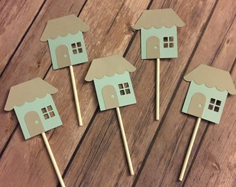 Housewarming party cupcake toppers, sets of 12