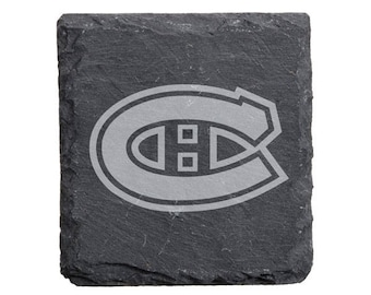 Montreal Canadiens Engraved Slate Coasters