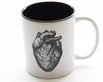 Anatomy Gift coffee MUG doctor nurse practitioner physician assistant skull brain anatomical heart goth home decor halloween tea male office