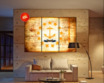 rhode island state flag  canvas rhode island state flag  wall decoration rhode island state flag  canvas art large canvas