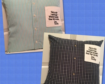 Memory Pillows made from your shirt