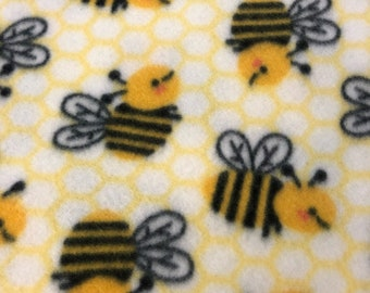 RaToob, Black and Yellow Bumbly Bees on Yellow and White Honeycomb