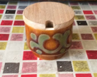 Hornsea Mustard Pot - Bronte Design - 1977