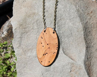 Orion constellation necklace made from urban wood - astronomy jewelry - science - stars - constellations - astronomy - astrology