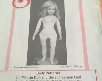 Doll body pattern for a Milette doll