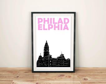 Philadelphia Print // Philadelphia Art // Pennsylvania Wall Art // Philadelphia Poster // Pennsylvania Art // Gift for Her // Gift for Him
