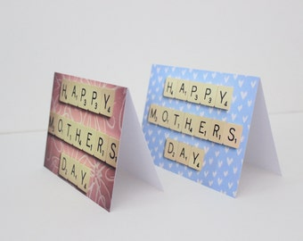Scrabble mothers day cards