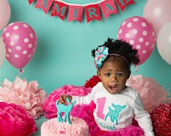 VALENTINE BIRTHDAY BANNER / Valentine baby shower / 1st birthday girl / Cake smash banner / Birthday banner girl / Birthday girl banner