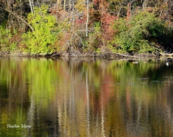 The Mill Pond in fall, fine art photography