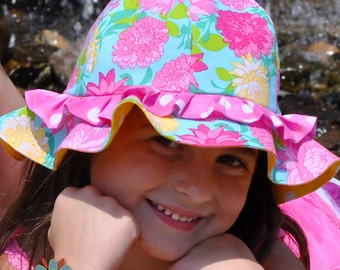 SUN HAT, Sewing PATTERN, Beach Hat Pattern, Baby Hat Pattern, Child Hat Pattern, Womens Hat Pattern, Pdf sewing Pattern, Baby to Adult