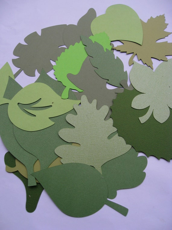 500 Mixed Leaves. 5 inch . CHOOSE YOUR COLORS. Escort Cards, Place Tags, Gift Tags, Wishing Tree.