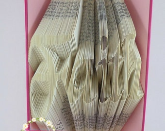 Faith Book Folding Pattern (299 Folds) PDF Instant Download With Tutorial, Bookfolding Pattern