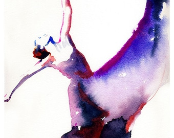 Modern Dancer Print, Watecolor Dancer Illustration, Dancer Painting, Dancer Print, Contemporary Dance Art, Dance Poster,