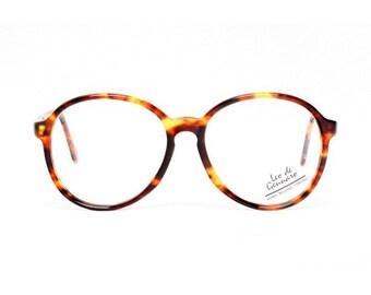 SALE - tortoise eyeglasses - brown oversized round glasses - large vintage frames - tortoise glasses - 1980s vintage panto eyeglasses albin