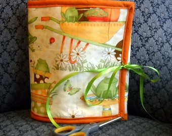 Frogs and Ladybugs Sewing Caddy, Hand Sewing Organizer