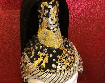 Egyptian Hat with acrylic poney tail