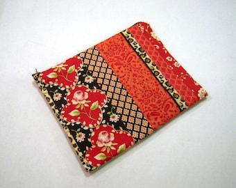 Rote Rosen und Leopard mit Reißverschluss-Etui