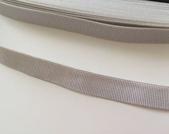 Ribbon elastic white 15 mm Trrs good qualities held