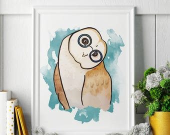 Owl - Owl Painting - Owl Art - Owl Painting - Owl Print - Owl Fine Art Print