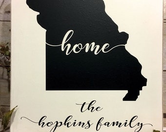 State Signs, Custom Wood State Signs, Home State Wood Signs, Personalized Rustic Wood Sign, Home State Sign, Wood State Sign, State Sign