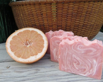 Pink Grapefruit Soap, All Natural Soap Handmade Soap Bar Soap, Cold process Soap Homemade Soap Artisan Soap, New Hampshire Soap, Bath