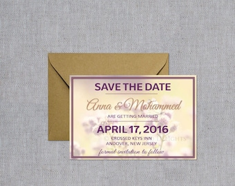 Save the Date Magnets - Wedding Save the Date - Flowers and Butterfly Save the Date - Wedding Announcements with Magnets